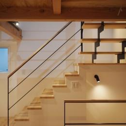 階段 (格子壁の住宅)