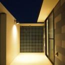 格子壁の住宅の写真 バルコニー