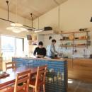 家族や友人と過ごす リビングダイニングでの時間を大切にしたい...(星川 マンションリノベーション)の写真 キッチン