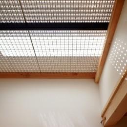 格子壁の住宅 (寝室)