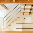 格子壁の住宅の写真 階段