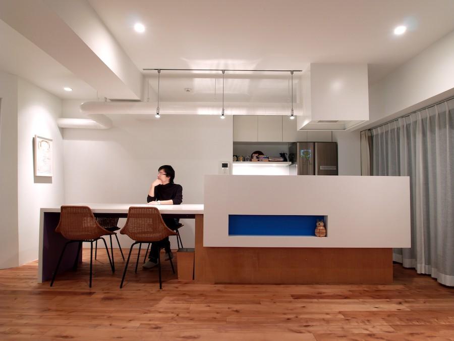 キッチン事例:ダイニングキッチン(SHAPES-円形の書斎、台形の寝室、そして…)