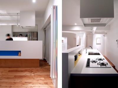 キッチン (SHAPES-円形の書斎、台形の寝室、そして…)