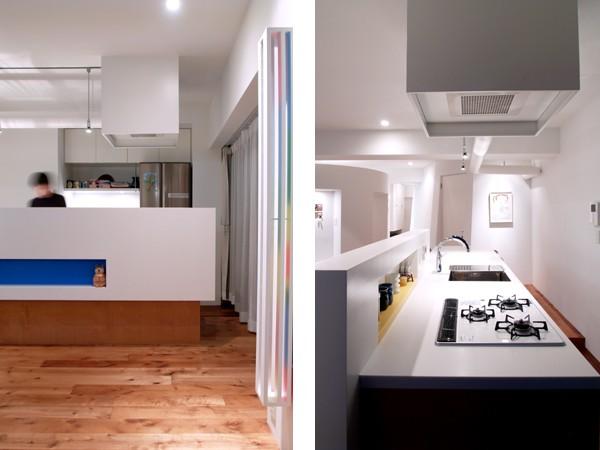 キッチン事例:キッチン(SHAPES-円形の書斎、台形の寝室、そして…)