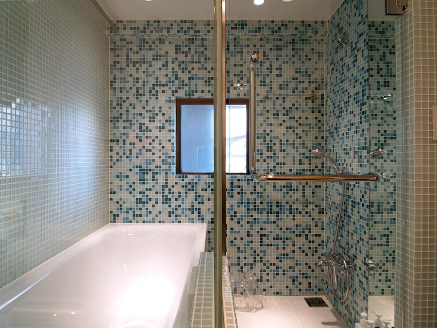 バス/トイレ事例:浴室(SHAPES-円形の書斎、台形の寝室、そして…)