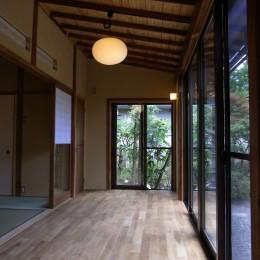 平屋の和風住宅 (縁側)