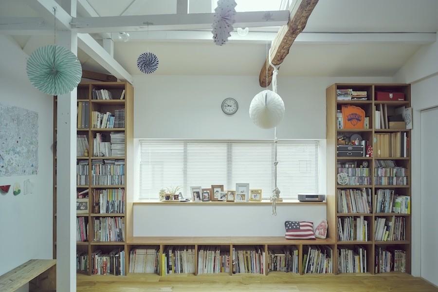 """収納事例:造作棚(""""ご近所さん""""感覚の二世帯住宅)"""