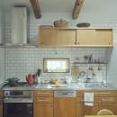 """""""ご近所さん""""感覚の二世帯住宅の写真 キッチン"""