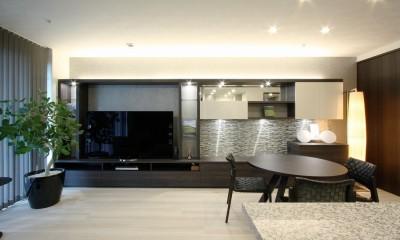 新築マンション・オプション工事  壁面収納のデザイン