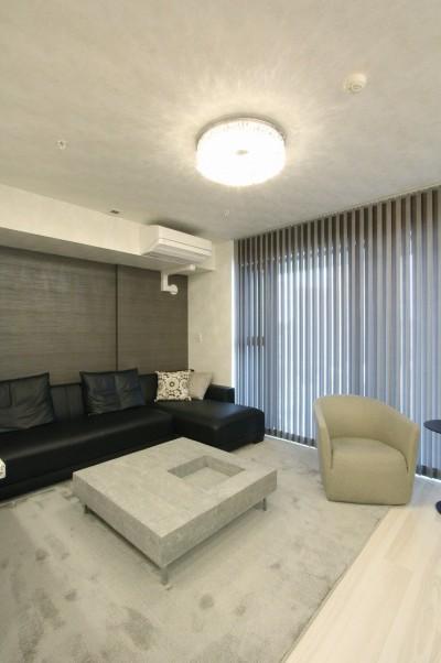新築マンション・オプション工事  壁面収納のデザイン (リビング)
