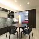 新築マンション・オプション工事  壁面収納のデザインの写真 ダイニング