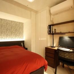 新築マンション・オプション工事  壁面収納のデザイン (寝室・書斎)