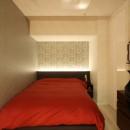 新築マンション・オプション工事  壁面収納のデザインの写真 寝室