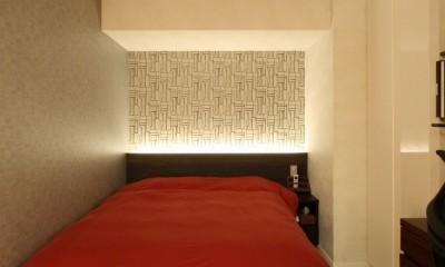 新築マンション・オプション工事  壁面収納のデザイン (寝室)