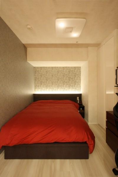 寝室 (新築マンション・オプション工事  壁面収納のデザイン)