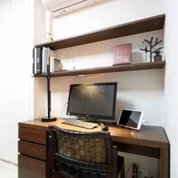 新築マンション・オプション工事  壁面収納のデザイン (書斎)