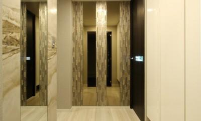 新築マンション・オプション工事  壁面収納のデザイン (玄関)