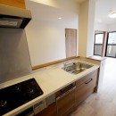 二面採光の部屋の写真 キッチン