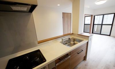 二面採光の部屋 (キッチン)
