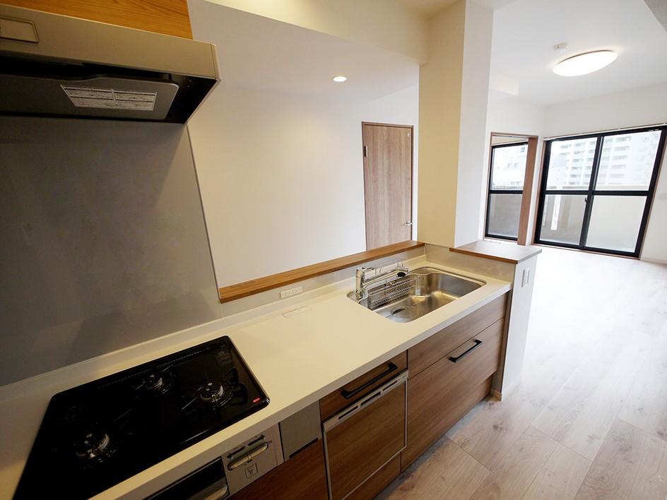 キッチン事例:キッチン(二面採光の部屋)