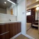 二面採光の部屋の写真 洗面室