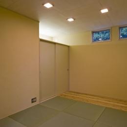 我孫子のコートハウス/平屋の家 (琉球畳のある和室)