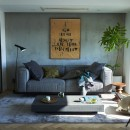RE : Apartment UNITED ARROWS LTD. MASTER PLAN A ~店舗の技術を取り入れた見せる収納~の写真 光と風が入り込む贅沢なリビング空間