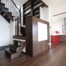湘南のシーサイドハウスの写真 階段書斎