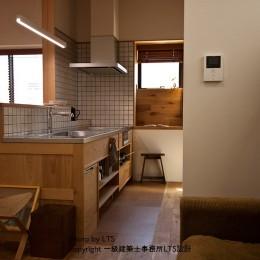 SRhouse (リビングとキッチンの関係)