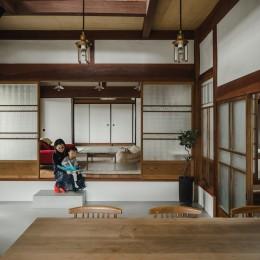 リビング (古民家カフェみたいな日本家屋リノベーション(下戸山の家リノベーション))