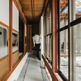 古民家カフェみたいな日本家屋リノベーション(下戸山の家リノベーション) (廊下)
