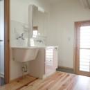 制震ユニット「MIRAIE(ミライエ)」採用の家の写真 洗面室