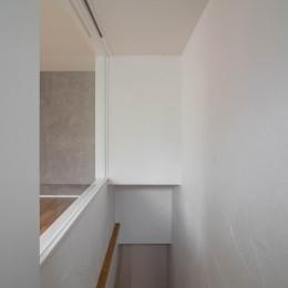 壁孔の家 (1階ホールに光を届ける工夫)