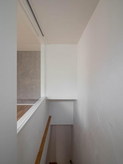 1階ホールに光を届ける工夫 (壁孔の家)