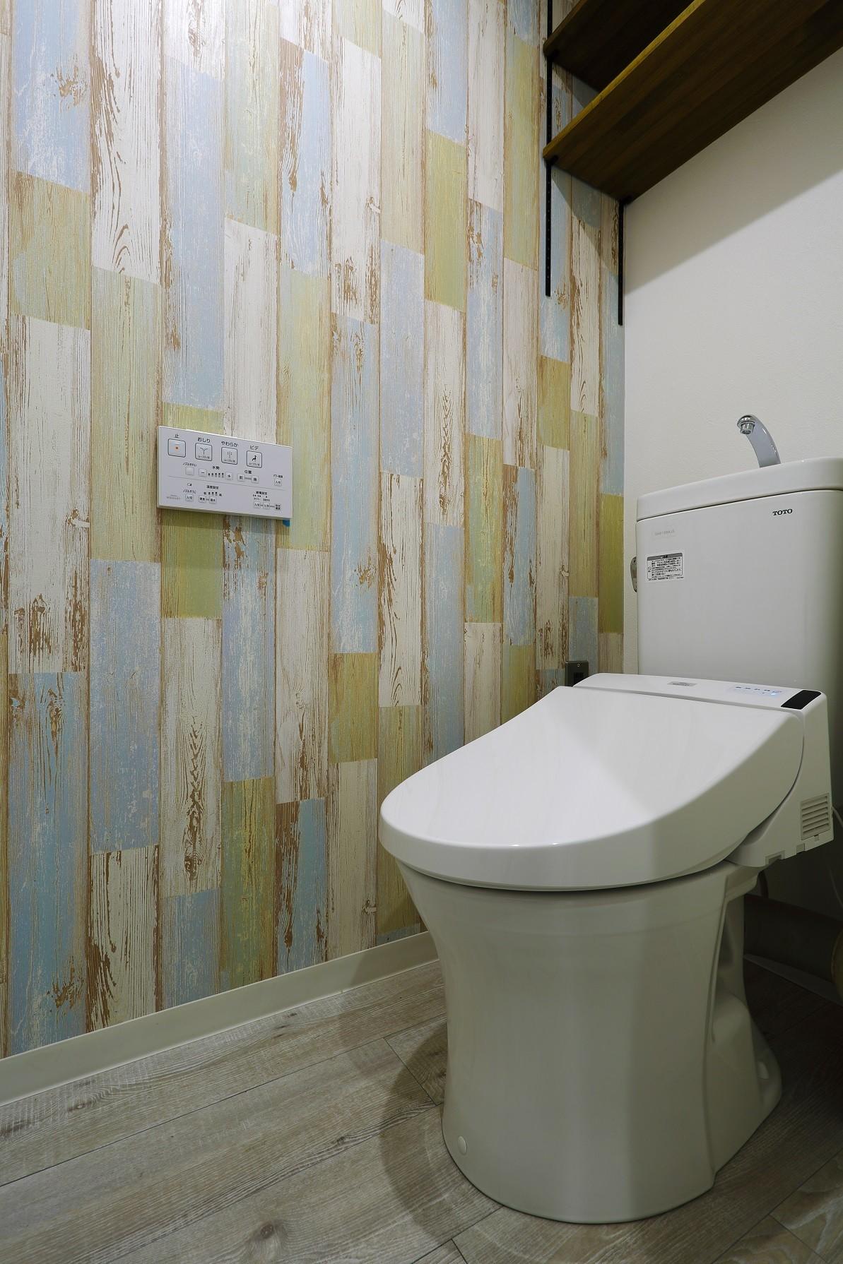 バス/トイレ事例:トイレ(ストライプ×ストライプ【S様邸】)