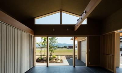 景色を楽しむ|眺望とお庭を楽しむ|火のある暮らしを楽しむ住まい 天理の家