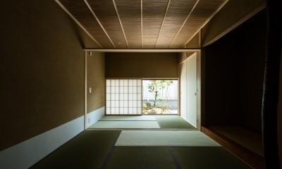 和室+仏間の続き間|眺望とお庭を楽しむ|火のある暮らしを楽しむ住まい 天理の家