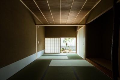 和室+仏間の続き間 (眺望とお庭を楽しむ|火のある暮らしを楽しむ住まい 天理の家)