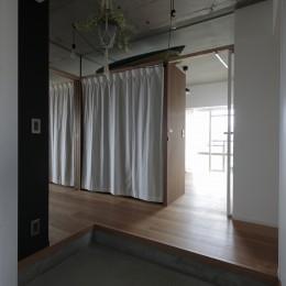 高槻のマンションリフォーム (玄関)