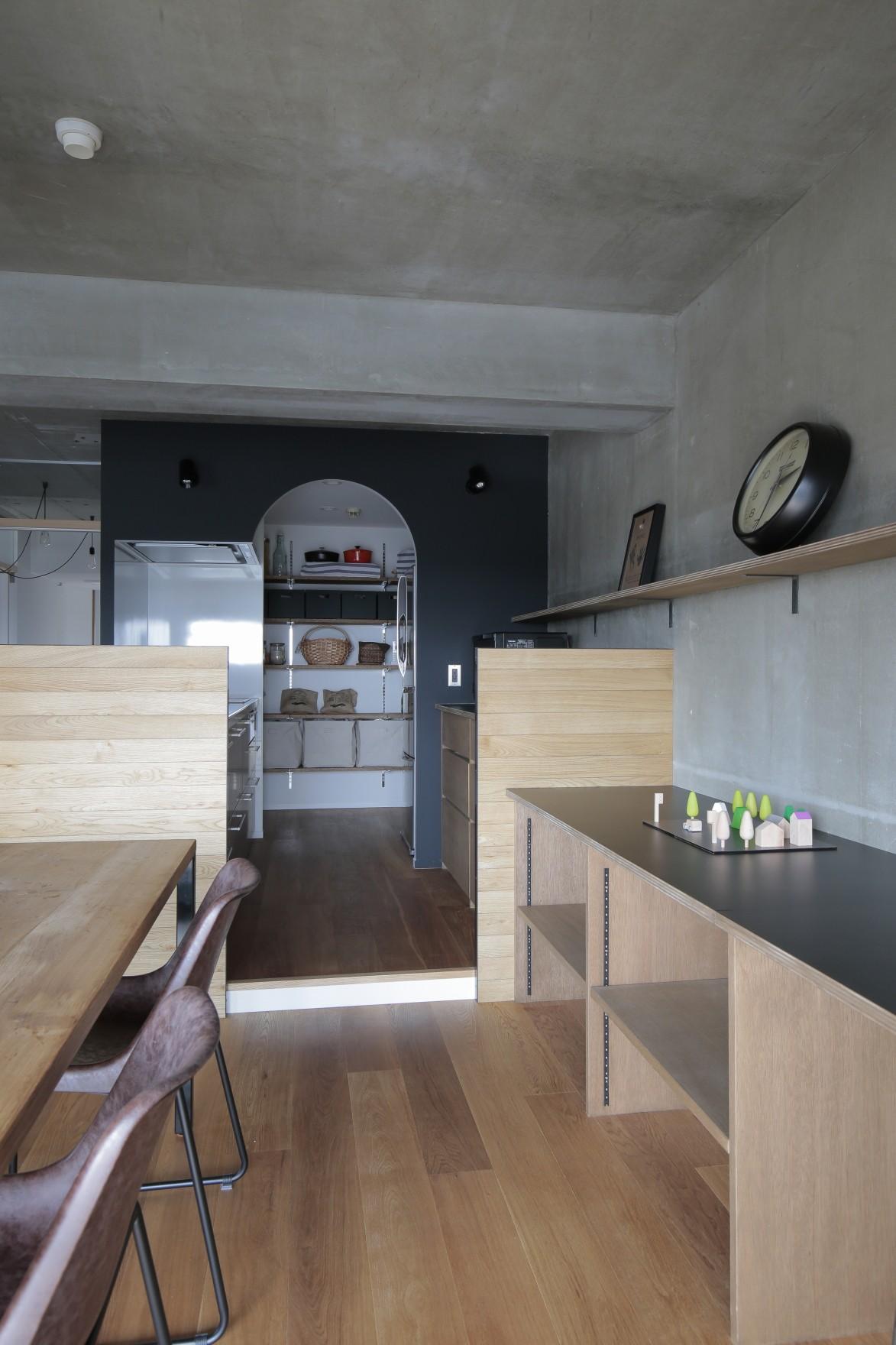 キッチン事例:ダイニングキッチン(高槻のマンションリフォーム)