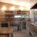 ステンレス天板のオーダーキッチン