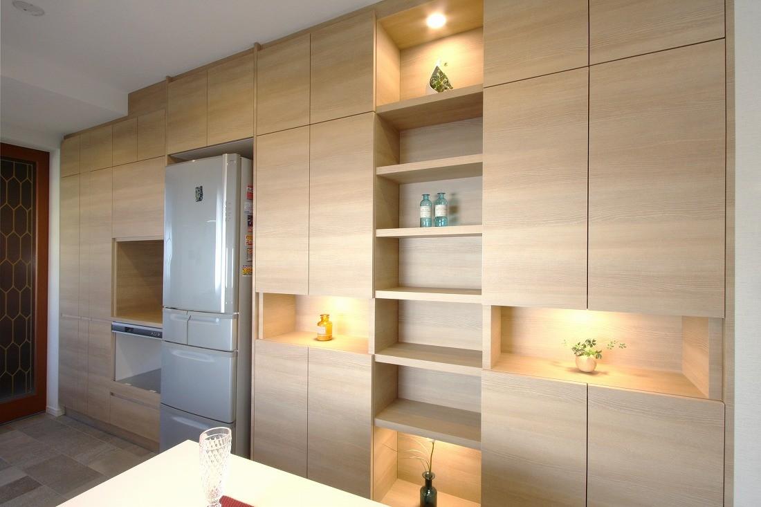 キッチン事例:キッチン(一戸建住宅デザインリフォーム ヘリンボーンスタイル)