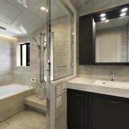 一戸建住宅デザインリフォーム ヘリンボーンスタイル (バスルーム)