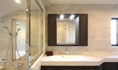 一戸建住宅デザインリフォーム ヘリンボーンスタイル (洗面)