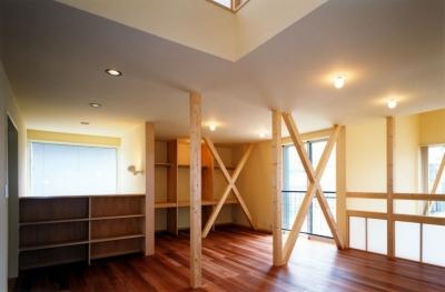 徐々に個室化していく子供室 (子供達が元気に遊びまわる家)