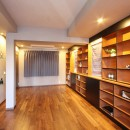 一戸建住宅デザインリフォーム ヘリンボーンスタイルの写真 寝室
