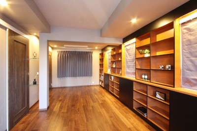 寝室 (一戸建住宅デザインリフォーム ヘリンボーンスタイル)