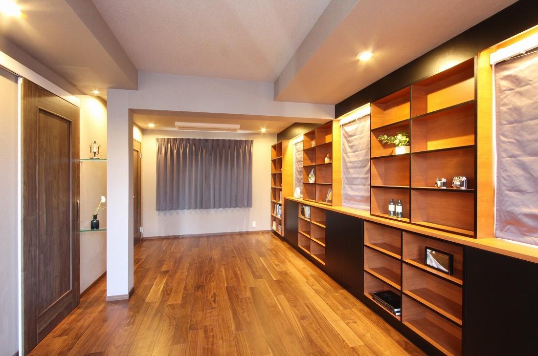 ベッドルーム事例:寝室(一戸建住宅デザインリフォーム ヘリンボーンスタイル)