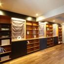 一戸建住宅デザインリフォーム ヘリンボーンスタイルの写真 書斎