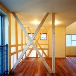 将来の変化に対応出来る2階の子供室 (子供達が元気に遊びまわる家)